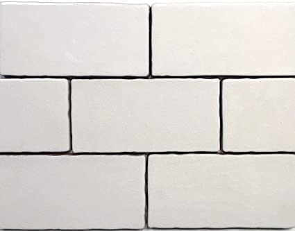 . 3x6 Biscuit Crackled Glaze Ceramic Tile  Wall Backsplash Decor