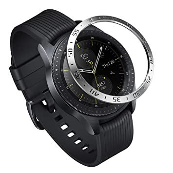 Ringke Bezel Styling para Galaxy Watch 42mm / Gear Sport, Bisel Anillo Cubrir Anti-rasguños Proteccion - [Acero Inoxidable] GW-42-01
