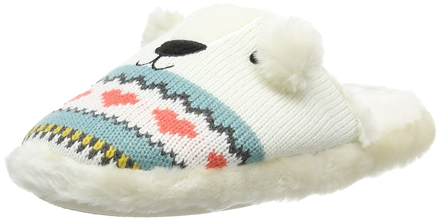 173461f558e Aroma Home Shoes Women s Polar Bear Knitted Open Back Slippers ...