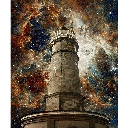 pb santander lighthouse the tarantula nebula unframed canvas
