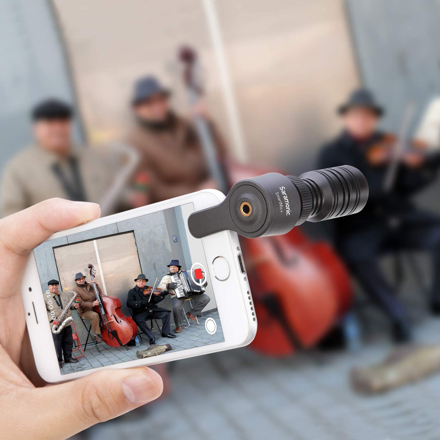 Saramonic SR-XM1 Omnidirectional Microphone Plug and Play Mic Compatible with DSLR Cameras Smartphone Camcorders Gopro for Vlogging Recording YouTube