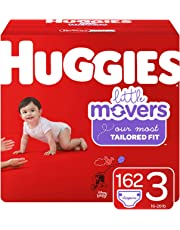 Huggies Little Movers Diapers, Size 3 (16-28 lb.), 162 Ct, Economy Plus Pack (Packaging May Vary)