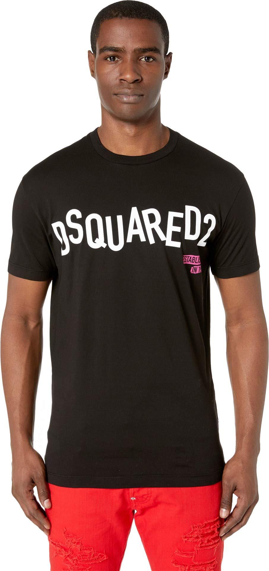 DSQUARED2 Men's Disco Punk Cool Fit T-Shirt Black Large