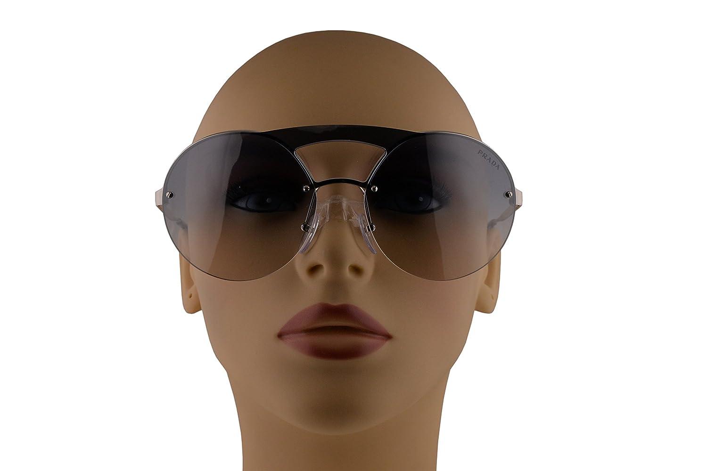 0551c98ca Amazon.com: Prada PR65TS Sunglasses Silver w/Gradient Blue Mirror Silver  36mm Lens 1BC5R0 SPR65T PR 65TS SPR 65T: Clothing
