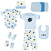 Kinbor Baby Newborn 10-Piece Essential Baby Layette Set for Boys and Girls
