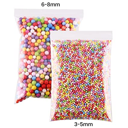 FINGOOO 30000pc 6 8mm Rainbow Slime Foam Ball Beads 3mm 5mm Floam Balls For