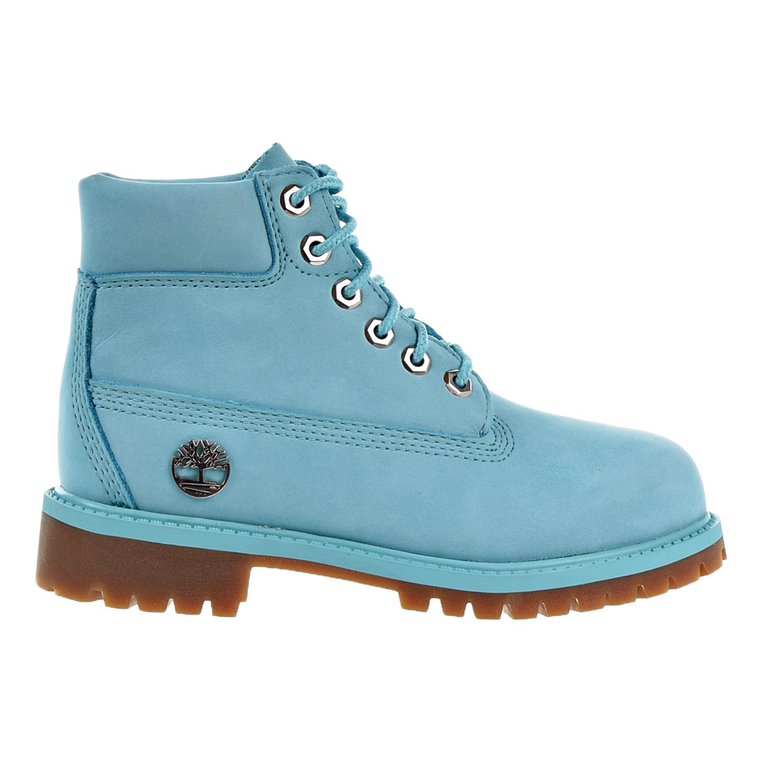 Timberland 6 Inch Premium Little Kid's Boots Blue tb0a1jne (1 M US)