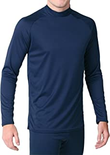 product image for WSI Microtech Form Fit Long Sleeve Shirt, Navy, Youth Medium