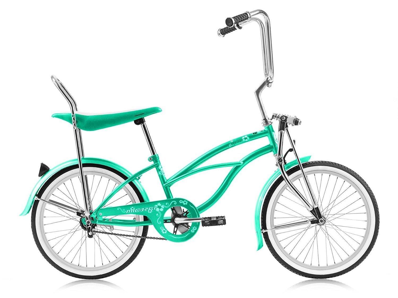 J Bikes by Micargi Hero 20 Girls Kids Low Bicycle Rider Mint Green Beach Cruiser 値引き B0052NVHVG 期間限定今なら送料無料