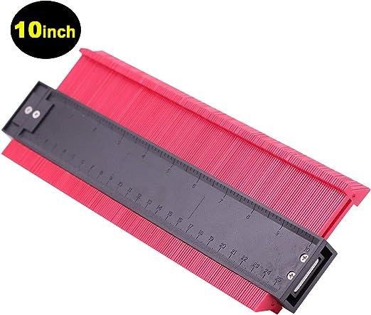 Whatyiu Contour Gauge Edge Shaping Measure Ruler Contour Duplicator for Tiling Laminate Woodworking Practical Tool