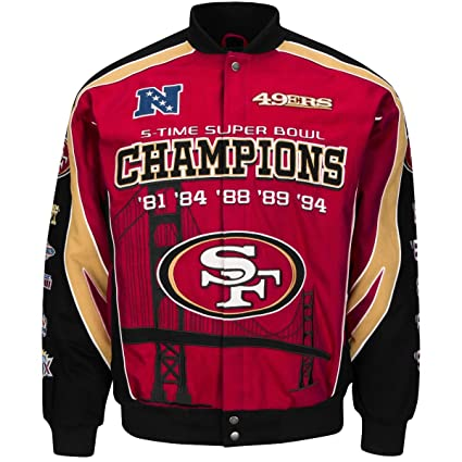 396e415ac San Francisco 49ers 5-time Super Bowl Champion Twill Jacket (red/black/