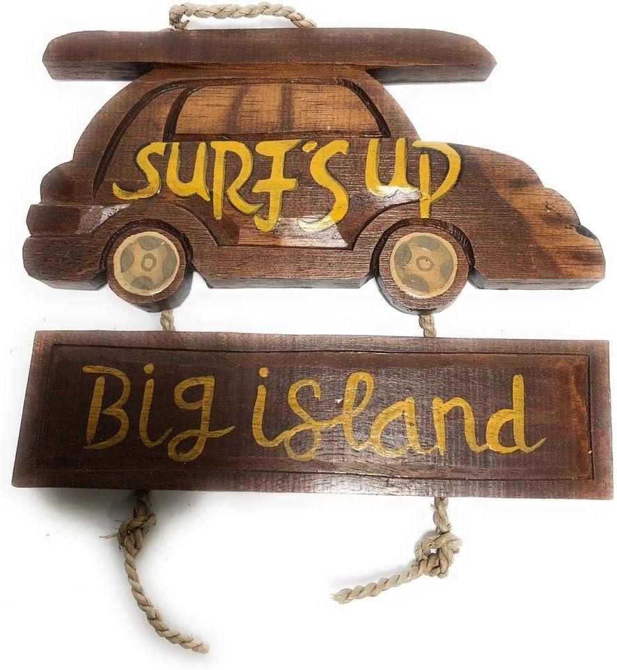 "Tikimaster Surf's Up, Big Island Woody Car Sign 10"" - Surf Decor | #dpt535225"