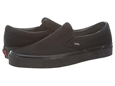 Vans Classic Slip On White Womens Trainers (9.5 B(M) US, Black/Black)