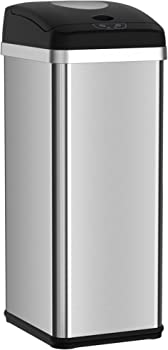 Halo 13 Gallon Touchless Best Trash Compactors Automatic Trash Can, Stainless Steel Sensor Kitchen Trash Can- Use Fewer Trash Bags