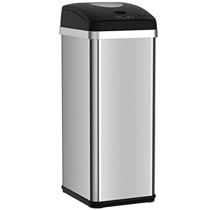 Halo 13 Gallon Touchless Trash Compactor Automatic Trash Can, Stainless  Steel Sensor Kitchen Trash Can