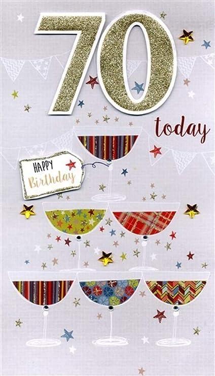 Tarjeta de felicitación de cumpleaños para él 70 cumpleaños ...