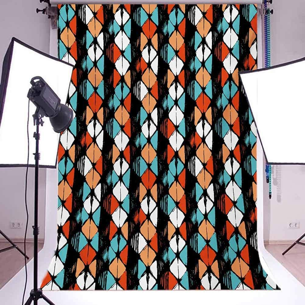 Vector Contemporary Design Geometric Hexagonal Detailed Image Background for Photography Kids Adult Photo Booth Video Shoot Vinyl Studio Props Modern 6.5x10 FT Photography Backdrop