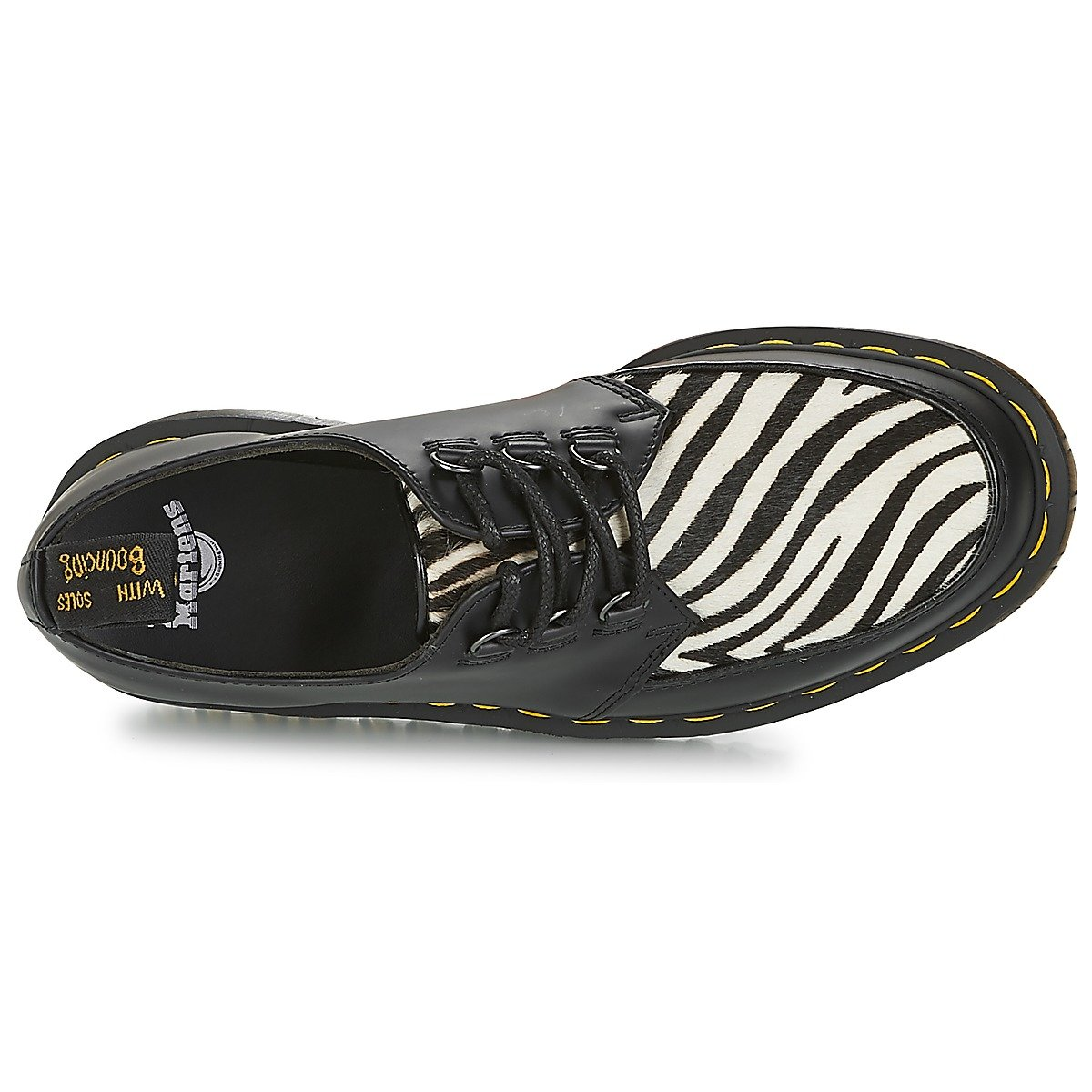 Dr. Martens Unisex Ramsey Zebra B072MV9ZJN 11 M UK|Black Smooth/Zebra Hair on