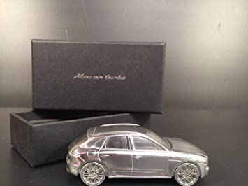 Porsche Macan Turbo Limited Edition Solid Billet Aluminum Model Paperweight 1:43