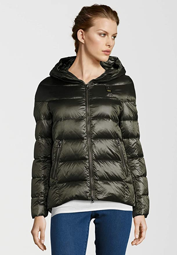 Blauer. USA Damen Daunenjacke mit glänzender Optik: Amazon