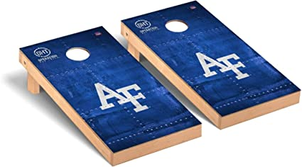 Victory Tailgate Regulation Collegiate NCAA Onyx Stained Stripe Series Cornhole Board Set 2 Boards 600+ Teams Available 8 Bags