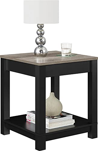 Langley Bay Wood End Table Black
