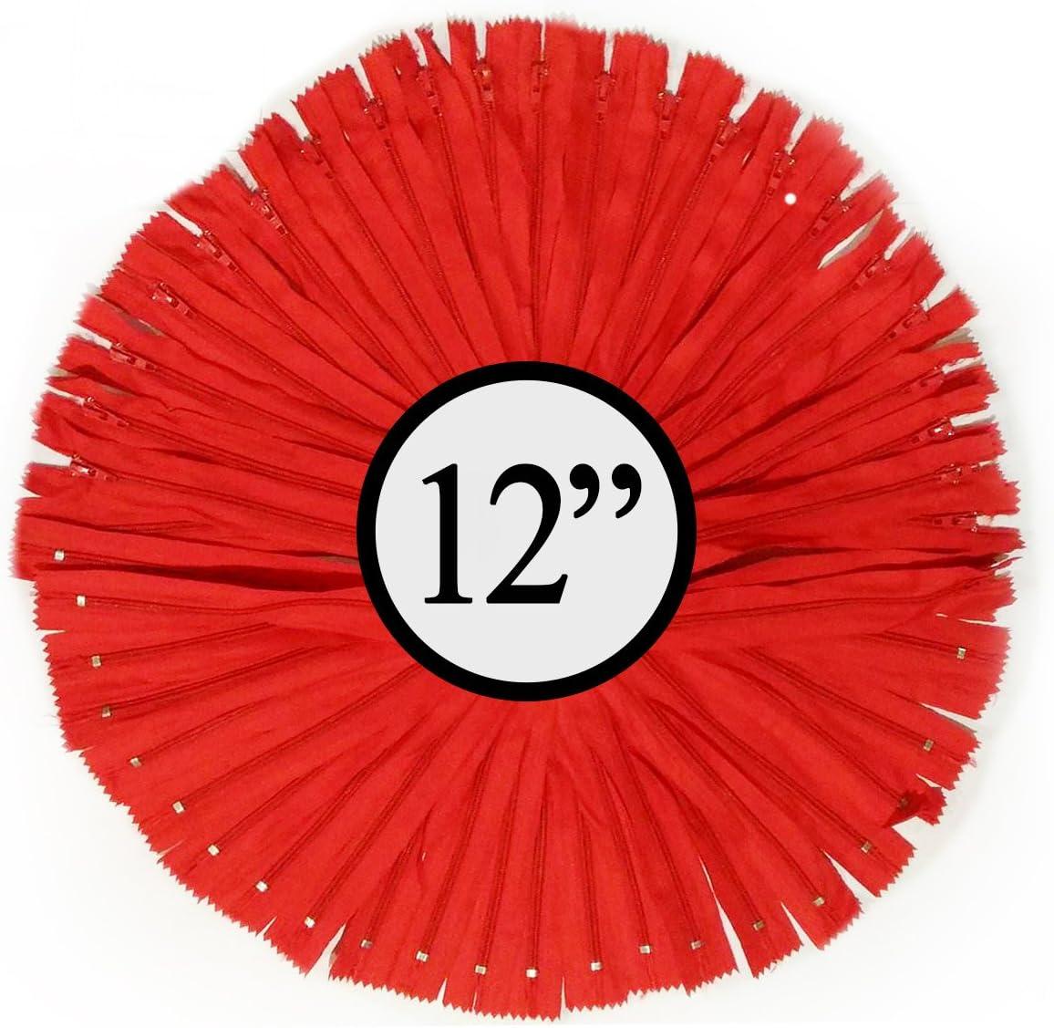 100 cremalleras//paquete blanco KGS Cremallera de nailon de 12 pulgadas #3