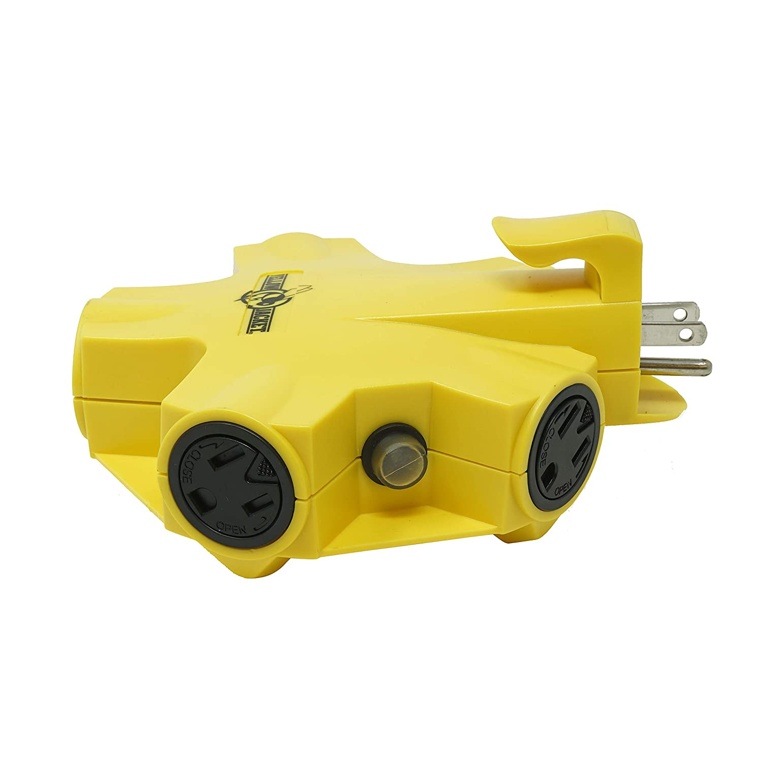 Yellow Jacket 827362 Jacket 27362 Outdoor 15-Amp Power Adapter with 5 Outlets Yellow