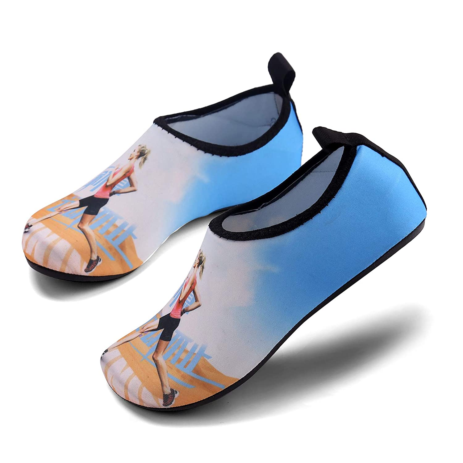 Aslipper Womens and Mens Summer Outdoor Water Shoes Aqua Socks for Beach Swim Surf Yoga Exercise