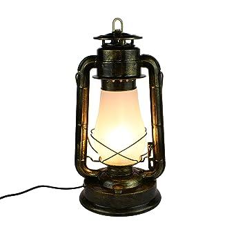 La Étude Chambre Chevet Cru Lanterne Lampe Rétro De Kérosène F3lJK1cT