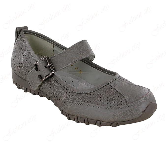 Adele Ladies Comfortable Flat School Pumps Ballerina Light Walk Shoe  Sandals 3-8: Amazon.co.uk: Shoes & Bags