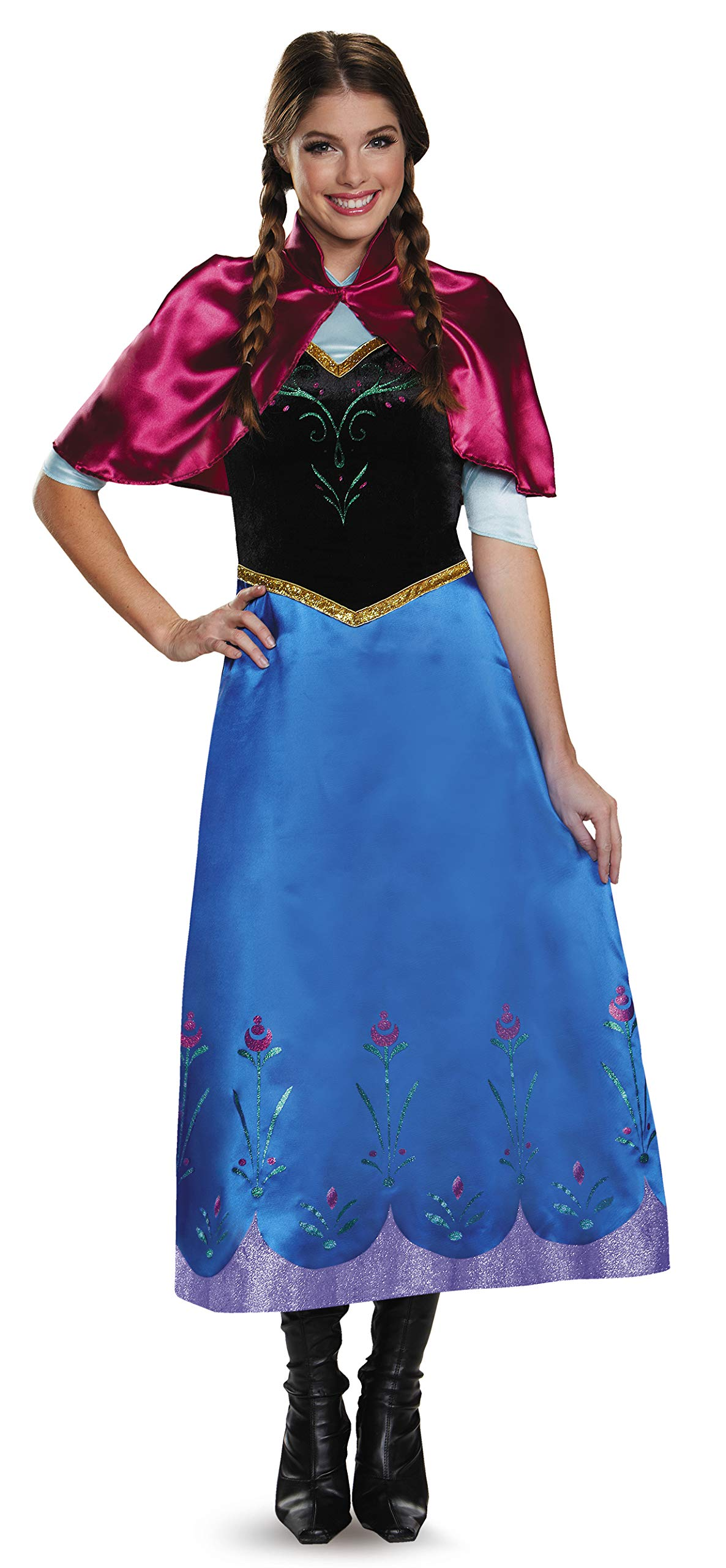 Disguise Women's Frozen Anna Traveling Deluxe Costume