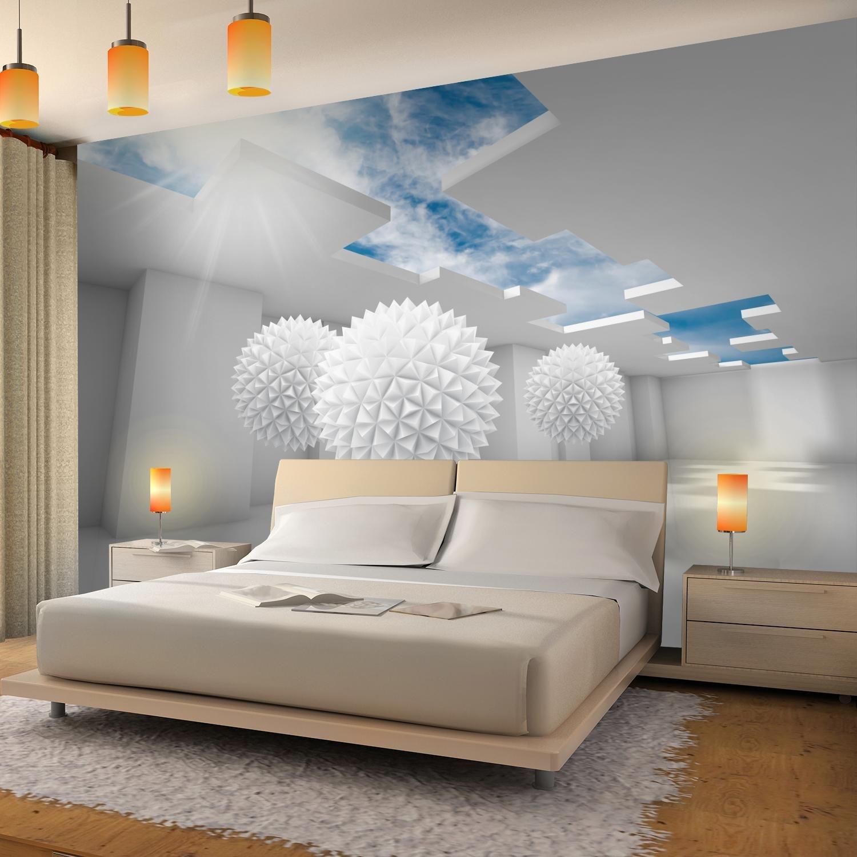 Blau 396 x 280 cm Vlies Wand Tapete Wohnzimmer