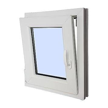 Fenêtre PVC Refermable Oscillo Battante Gauche 500 X 600 1 Ventail Avec  Verre Carglass