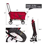 REDCAMP Collapsible Wagon Cart,Folding Utility