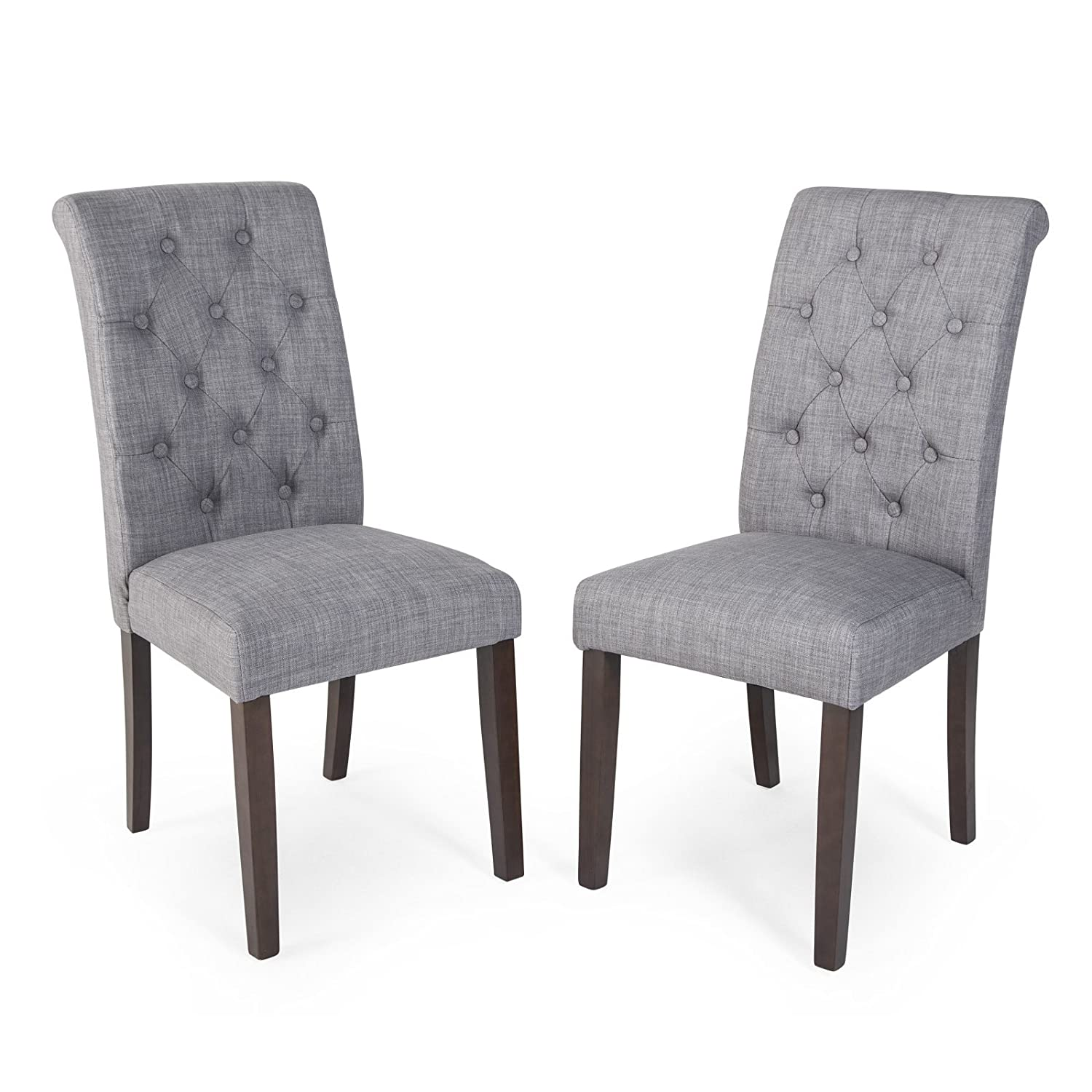 Amazon Tufted Parsons Dining Chairs Set of 2 Chairs