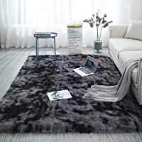 MUKJH Super Soft Carpet, Non-Slip Fluffy Carpet, Indoor Plush Carpet, Modern Interior Decoration Floor carpet3.9×6.5feet…