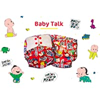 Superbottoms Cloth Supersoft Reusable Cover Diaper with 1 Stay Dry Soaker - Baby Talk
