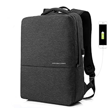 ynxing negocios mochila para portátil con USB puerto de carga de la mochila bolso impermeable anti robo Camping mochila Colegio Bolsa para Hombres y ...