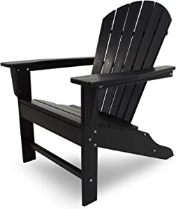 POLYWOOD SBA15BL South Beach Adirondack Chair, Black