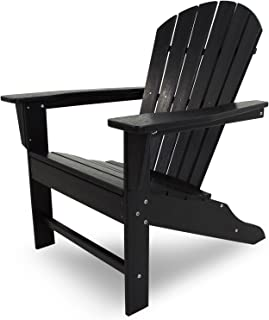 product image for POLYWOOD SBA15BL South Beach Adirondack Chair, Black
