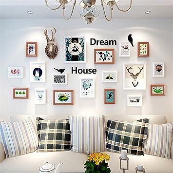 GAO® Bilderrahmen Wand Dekorative Malerei Wohnzimmer Restaurant Sofa  Hintergrundwand Schlafzimmer Hirschkopf Hängende Gemälde Modern Einfach