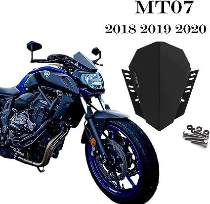 Atlants Cúpula Moto Yamaha Mt07 Fz07 2018 2019 2020 Parabrisas Motocicleta De Acero Inoxidable Cortavientos Aerodinámico Para Moto Naked Pantalla Delantera Para Moto Amazon Es Coche Y Moto