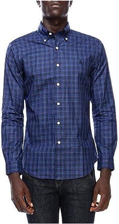 Ralph Lauren Camisa Polo Cuadros Azul/Negro M Dawn Blue/Black: Amazon.es: Ropa y accesorios