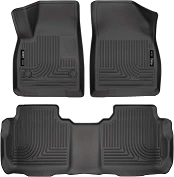 Amazon Com Husky Liners Fits 2017 19 Cadillac Xt5 2017 19 Gmc Acadia 2019 Chevrolet Blazer Weatherbeater Front 2nd Seat Floor Mats Automotive