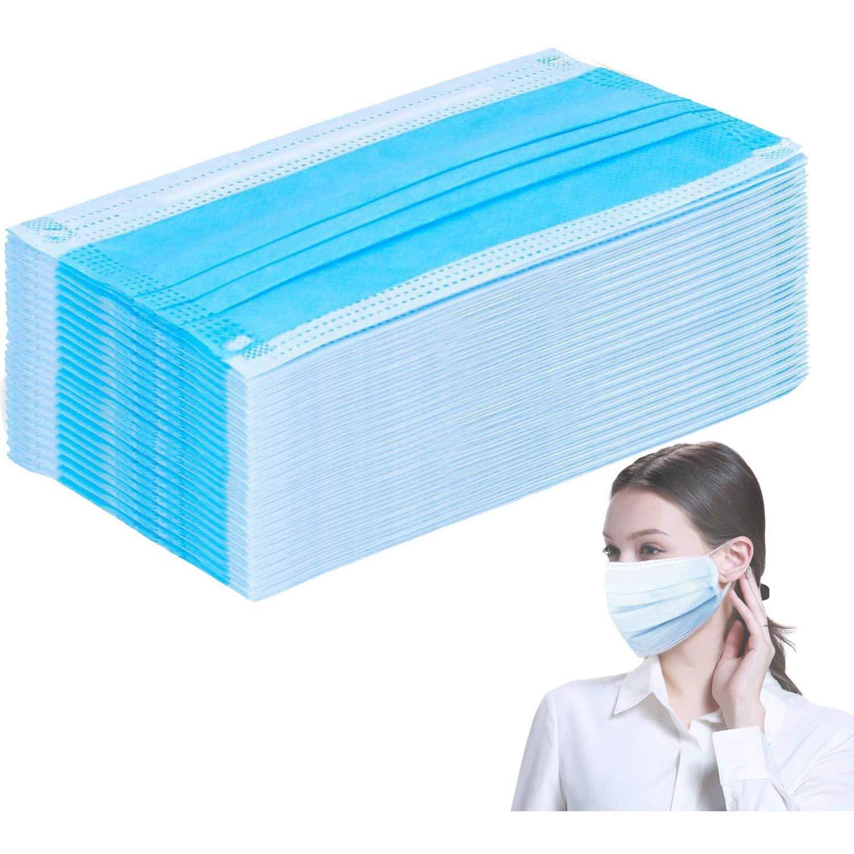 Mascarillas para la boca estándar – bolsa sellada – mascarillas higiénicas disponibles en el Reino Unido Salud protegida y cuidado de esteticistas, color azul, 50, 50