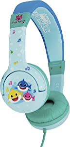 OTL BS0658 Baby Shark Pink Headphones for Children Aged 3-7 Years (Blue)