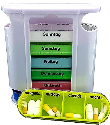 M&H-24 Tabletas-Caja Pastillero Caja Medicine por 7 días - Pastillero Tablet Caja