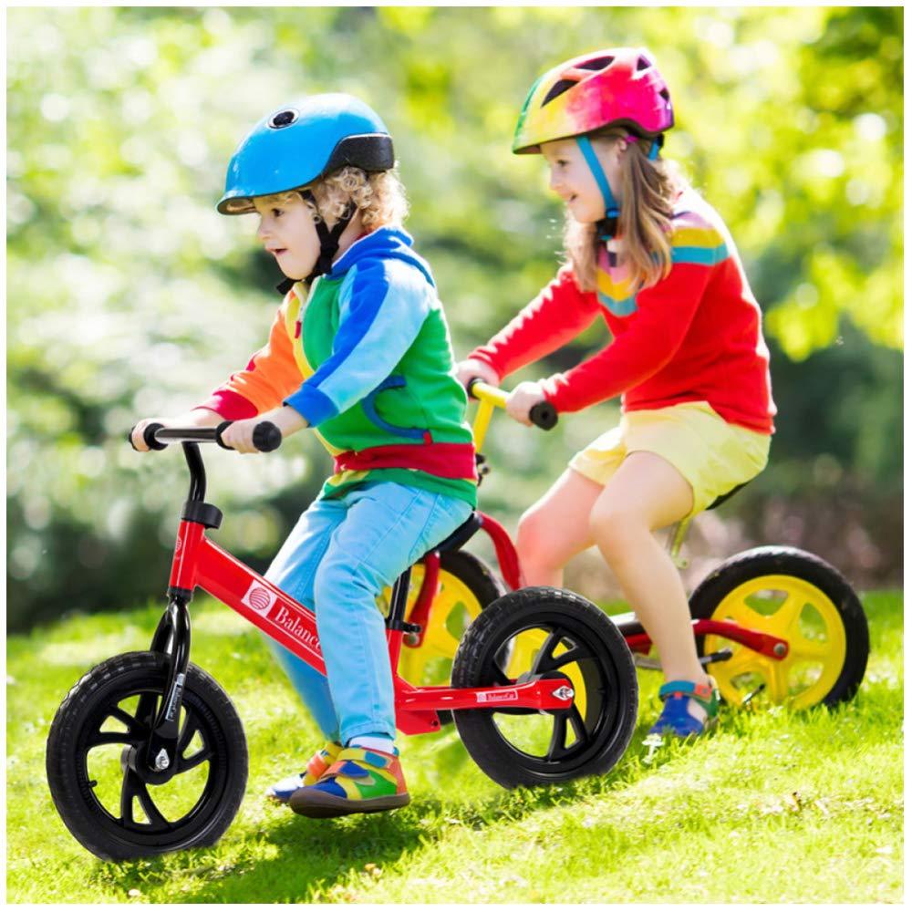 CHRISTMAD Due Ruote Outdoor 12 Pollici Baby Balance Bike Senza Pedale Giocattoli da Equitazione per Bambini Baby Toddler Baby Walker 80-120cm,E
