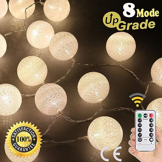 Cadena de Luces LED Decorativas, Morbuy USB Guirnalda Luces con Control Remoto 8 Modo Bola Hada Noche Para Bebe Casa Dormitorio Boda Fiesta De Cumpleaños: Amazon.es: Iluminación